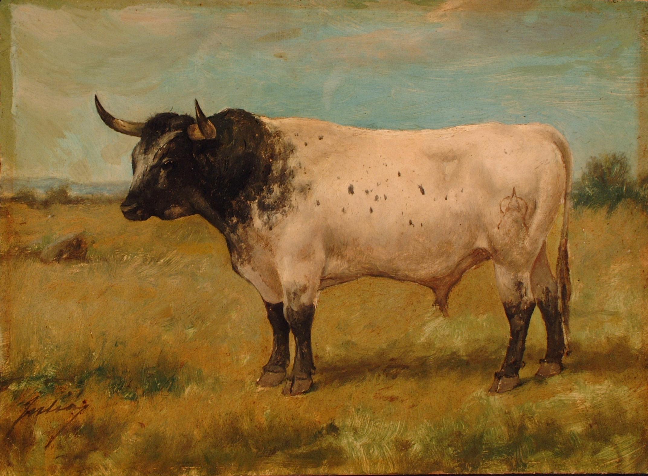 Jocinero, toro de Miura. L. Juliá, s. XIX. Archivo RMCS