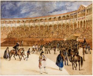 El despeje. P. Blanchard, 1835. Acuarela. Colección RMCS.