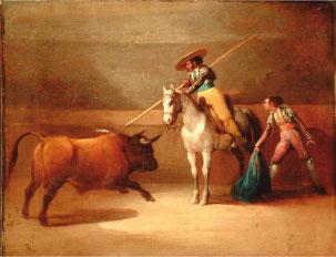 Suerte de varas J. Elbo, s.XIX. Óleo/lienzo. Colección RMCS.