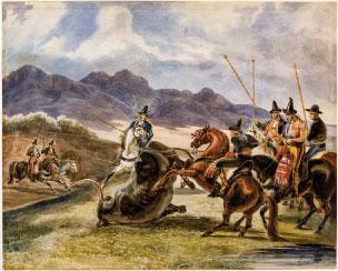 Acoso y derribo. P. Blanchard, 1835. Colección RMCS