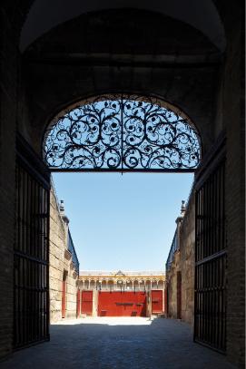Interior de la Puerta del Príncipe. Foto José Morón. Archivo RMCS.