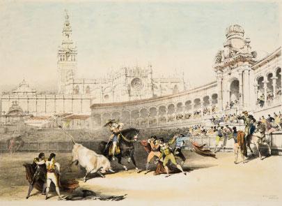 Corrida de toros en Sevilla. Archivo RMCS.