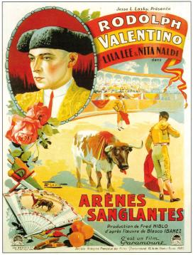 Cartel, de la película dirigida por F. Niblo y protagonizada por Rodolfo Valentino, 1922.