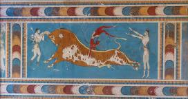 Frescos del Palacio de Knossos, Creta (Grecia).