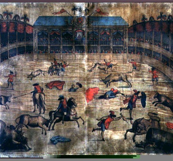 Vista de la segunda plaza de madera de Sevilla.