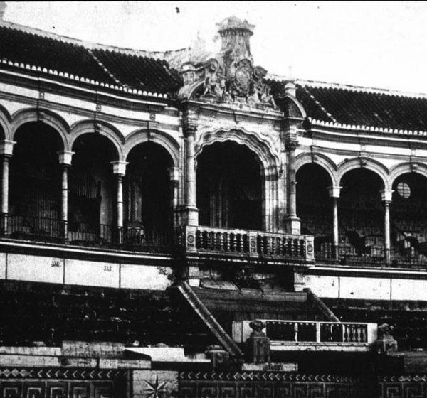 Aspecto de la plaza en 1861