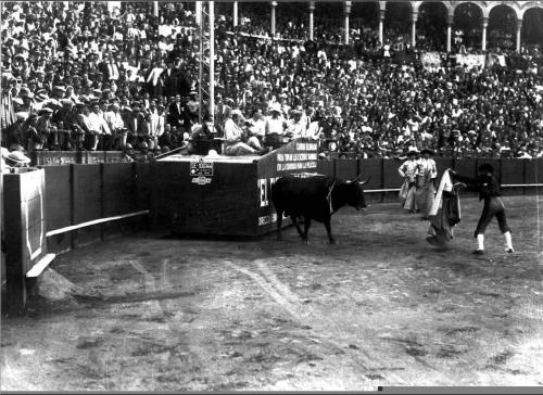 """Rodaje de """"El embrujo de Sevilla"""", de Benito Perojo."""