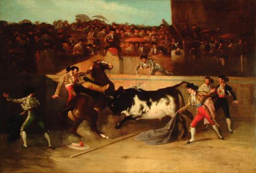 Manuel Rodríguez de Guzmán. Derribo del picador.